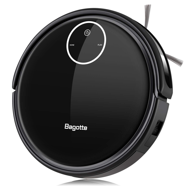 Bagotte BL509 Saugroboter mit Wischfunktion schwarz, für Tierhaare und Allergiker