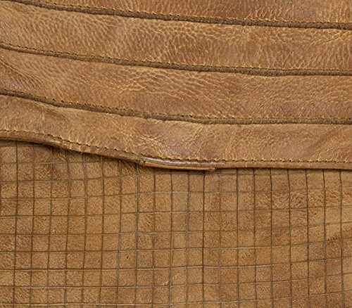 FREDsBRUDER Mixology épaule Sac Clutch dames de cuir Vintage (25 x 20 x 4 cm) Caramel (Marron)