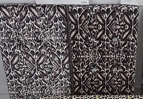 Alfionapoli Panca Pouf Contenitore in velur zebrata Bianco e Nero 38x78x38