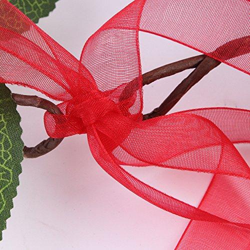 Yazidan Frauen handgemachte Blumen Hairband Crown Hochzeit Kranz Braut Kopfschmuck Strand Blumen Stirnband Hochzeit Haarkranz Krone - Mädchen Blumenkranz Haare für Hochzeit Party