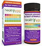 HealthyWiser pH Test Strips 0-14 Univers...