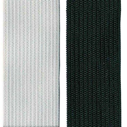 Gummiband Gummilitze elastisches Elastic Band gewebt Gummizug Gummi Hosengummi Hosenband Litze Weiß 1,5 m x 2 cm (Textil-band)