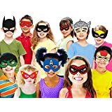 Party Propz Super Hero Theme Mask 10 Pc For Superhero Party Supplies