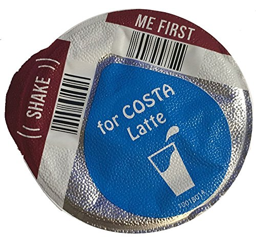 Get 96 x Tassimo Costa Latte 325ml Milk Creamer Pods Only (NO COFFEE DISCS) SOLD LOOSE - New Smaller Disc - Tassimo