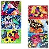 10 Packungen Oster-Dekorbanderolen Schmetterlinge, 7 verschiedene Motive je Packung Schmetterlinge