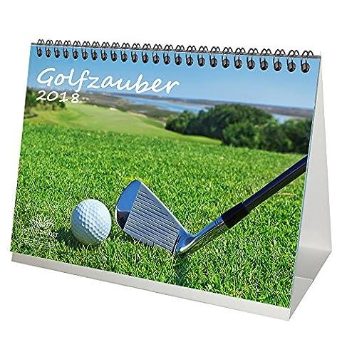 Premium Tischkalender / Kalender 2018 · DIN A5 · Golfzauber · Golf · Sport · Abschlag · Handicap · Edition Seelenzauber