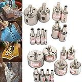 Rayinblue Kernbohrer-/Lochsägen-Bohrspitzen-Set, diamantbeschichtet, für Glas, Keramik und Fliesen, 10 Stück