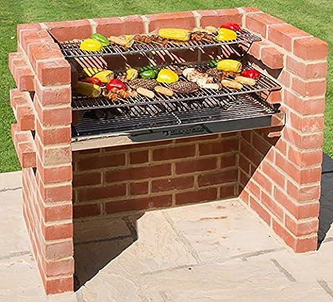Black Knight Barbecues BKB 30290x 90x 39cm Grand Kit barbecue–en acier inoxydable
