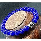 Affaires Semi Precious Stone Yoga & Meditation Buddha Reiki Healing Beads Diffuser Beads Bracelets Unisex Color Blue ( B-8 )