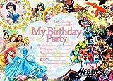 Disney Princess super hero kids birthday party invitations 30 + 30 Envelopes