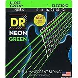 DR Strings NEON 9-42 Jeu de Cordes pour Guitare Electrique Vert