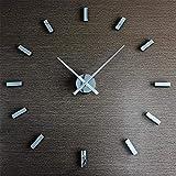 TRNMC Tisch, Uhr, Uhr, Geschenk, Uhr, Haushalt, Uhr, Wohnzimmer, einfache Uhr, Wanduhr, Wohnzimmer, europäische Quarzuhr, Uhr, Wanduhr, doppelseitige Uhr, Uhr,Spiegel Silber
