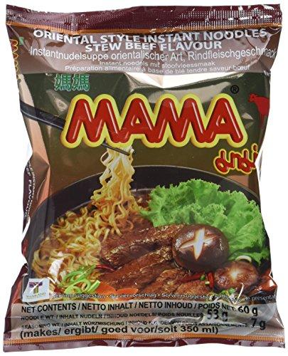 Mama Instant Nudeln Schmorfleisch 60g, 45er Pack (45 x 60 g)