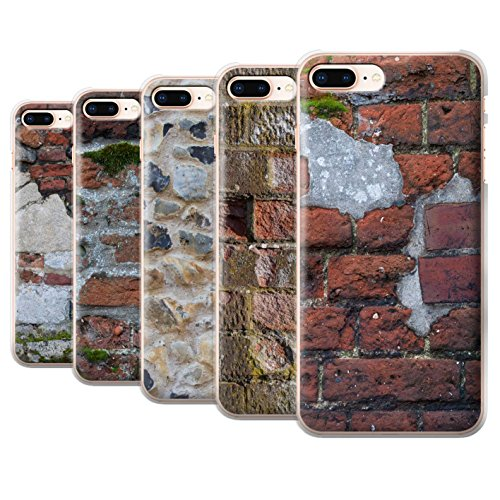 Stuff4 Hülle / Case für Apple iPhone 8 Plus / Feuerstein/Stein Muster / Mauerwerk Kollektion Pack 11pcs