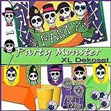 Party Monster - Halloween Party Deko Monsterparty XL Fahne, Girlande, Partygeschirr