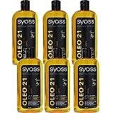6x Syoss Oleo 21 Shampoo Intense Care - 500 ml