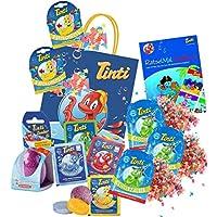 Tinti Planschtüte pflegender Badespaß 9+1 Produkte inkl. Zauber-Ei (Planschtüte) preisvergleich bei kleinkindspielzeugpreise.eu