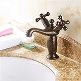 Good quality Waschtischarmatur/Wasserhahn für Waschbecken, Antik-Optik, für Waschbecken, Doppelwaschbecken, warmes und kaltes Wasser