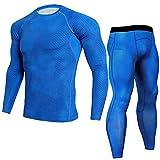 LMMET Tuta Uomo Sportiva Pantaloni Sportivi Da Uomo Leggings Fitness Sport Gym Running Yoga Athletic Pants Asciugatura Veloce Tops Pants Tuta Sportiva Compressione Sportiva