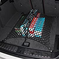 9Moon Rete elastica portaoggetti universale per bagagliaio auto, con 6 ganci, uso tappetino/tasca, colore nero
