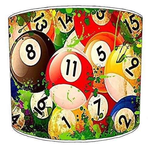 Premier Lampshades 30,5cm Decke Billiard, Pool, Snooker, 8 Ball Childrens Lampenschirme 16