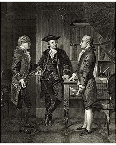 Photographic Print of Baron de Kalb (centre) introducing Lafayette to Silas Dean, from Life and
