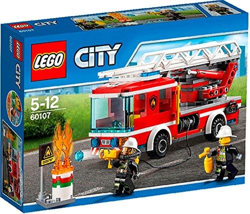 Preisvergleich Produktbild LEGO® City 60107 Feuerwehrfahrzeug mit fahrbarer Leiter