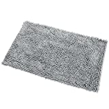 Diossad Badteppich Grau Polyesterfaser Weiche Shaggy Saugfähige Wasser Anti Beleg Haushalt Badezimmer Teppich