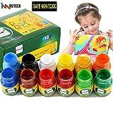 Best US Art Supply Kid Art Supplies - iMustech Washable Finger Paints, Finger Paint Set, Kid's Review