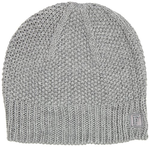 French Connection - Candy Knits Bernice Beanie, Berretto da donna, grigio (grau - hellgrau-meliert), unica