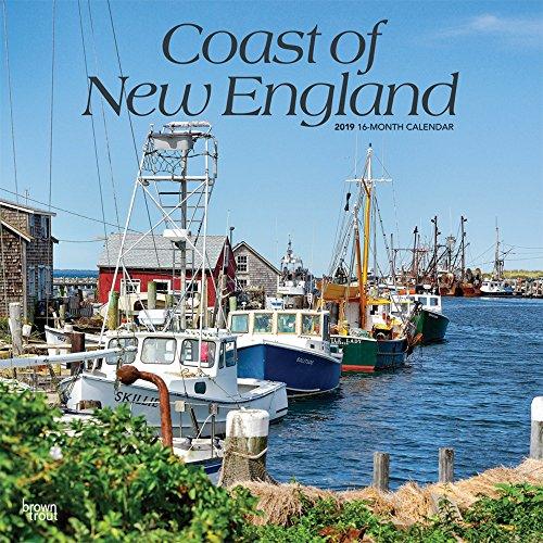 Coast of New England - Küste von Neuengland 2019 - 18-Monatskalender: Original BrownTrout-Kalender, mit freier TravelDays-App por Inc. Browntrout Publishers