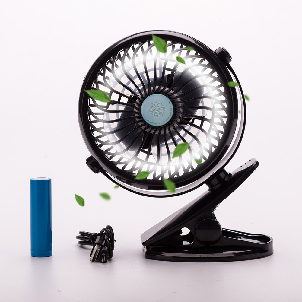 rechargeable battery operated clip mini desk fan usb charging portable air con ebay. Black Bedroom Furniture Sets. Home Design Ideas
