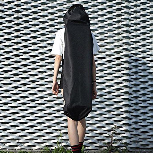Prom-near Skateboard Tasche Rucksäcke für Skateboard 600D Oxford Tuch für Weniger als 46 Zoll Skateboard, Schwarz (ohne Skateboards)