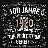 100 Jahre Jahrgang 1920 zur Perfektion gereift: Geschenk zum 100. Geburtstag Geschenk Geburtstagsparty Gästebuch Eintragen von Wünschen / Design: Luftschlangen Schwarz Gold