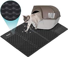 Dadypet Katze Katzentoilette Matte Steigern Leicht Zu Reinigen Verbesserte Version Extragroße Doppelte Struktur Matte Wasserdicht(Schwarz)