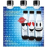 Sodastream 30000142 Pack de 3 Bouteilles Grand Plastique, Bleu, 26,5 x 9 x 26 cm
