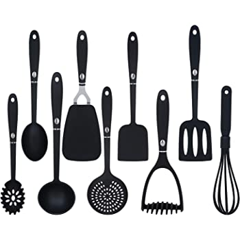 9 Pieces Cooking Utensils Non Stick Non Scratch Kitchen