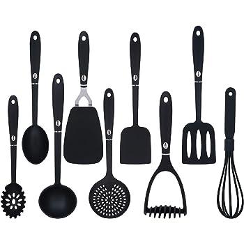 9 Pieces Cooking Utensils Non Stick Non Scratch Kitchen