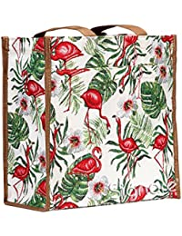 Signare Womens Fashion Tapestry Shopper Bag Shoulder Bag In Flamingo Design