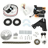 HaroldDol Elektro Ebike Conversion Twist Kit, Elektro-Fahrrad Umbausatz Hinterrad Heckmotor, 250W 24V Bürstenmotor mit…