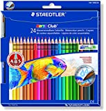 Staedtler Noris Club 24 Crayons de couleur aquarellable