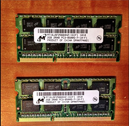 133 Mhz Notebook Speicher (Micron 4 GB 2 x 2 GB PC3–8500S DDR3 1066 Laptop Notebook Speicher Kit Lenovo 55y3713)