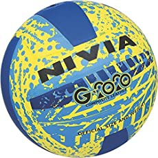 Nivia G2020 volleyball, size 4( Yellow/blue)