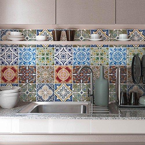 wall art PS00006 Adesivi in pvc per piastrelle per bagno e cucina ...