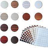12 vellen Thuiskantoor Schroef Gaten Cover Caps Stickers, Zelfklevende PVC Cover Caps, Schroef Gat Sticker voor Wandmeubilair