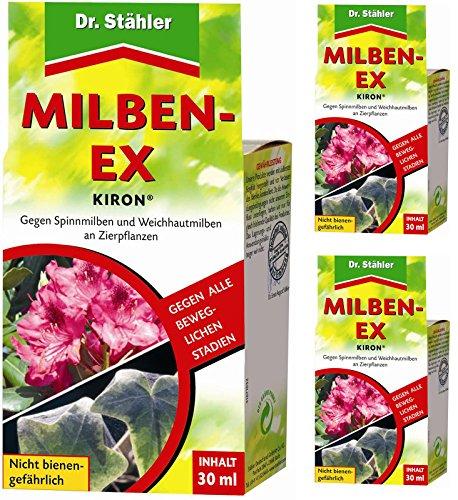 GARDOPIA Sparpaket: 3 x 30 ml Dr. Stähler Kiron Milben-Ex + Gardopia Zeckenzange mit Lupe