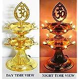 Bubby 2 Layer New Electric Gold LED Bulb Lights Diya/Deep/Deepak For Pooja/Puja/Mandir Diwali Festival Decoration