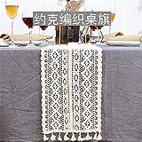 QZQZP Tischläufer Tabelle Flagge Spitze Vintage Esstisch Flagge American Style Moderne Minimalistische Tischdekoration Tuch Streifen, York Weben Tischfahne (Breite 24cm), Länge 180cm