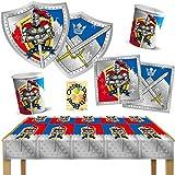 Ritter Knights Party-Set Teller Becher Servietten 2 Tischdecken 50tlg. für 12 Kinder