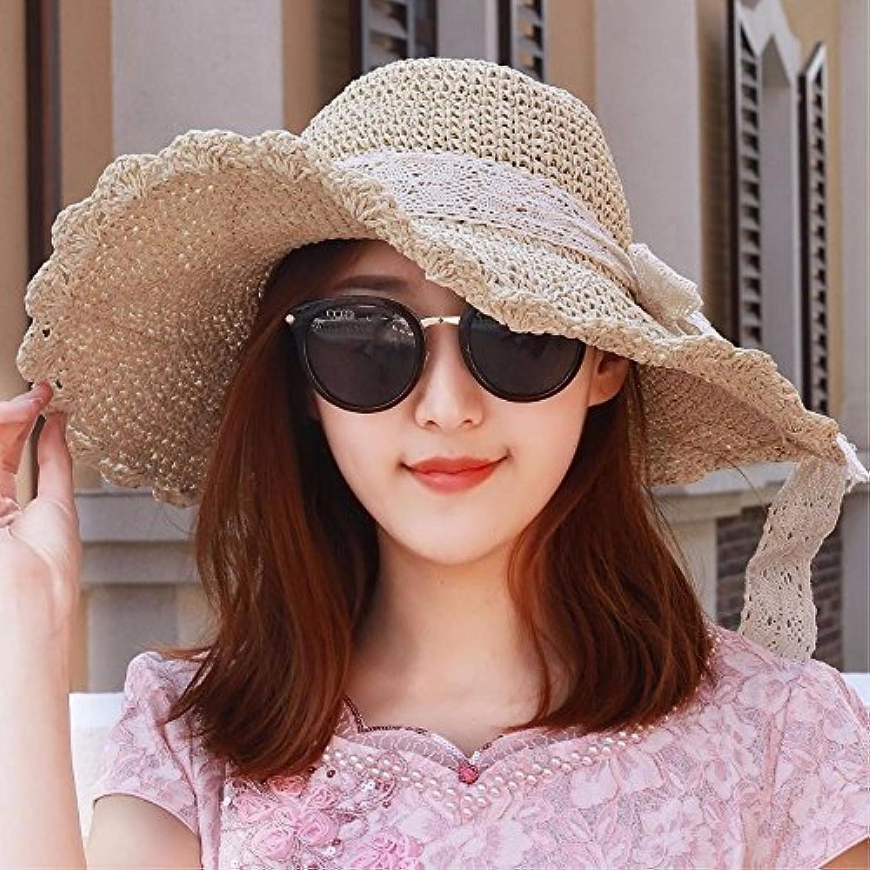 YANGFEIFEI-MZ Hat la ragazza per piegare lotus foglie e paglia grande cappello  di paglia 317378a59dce